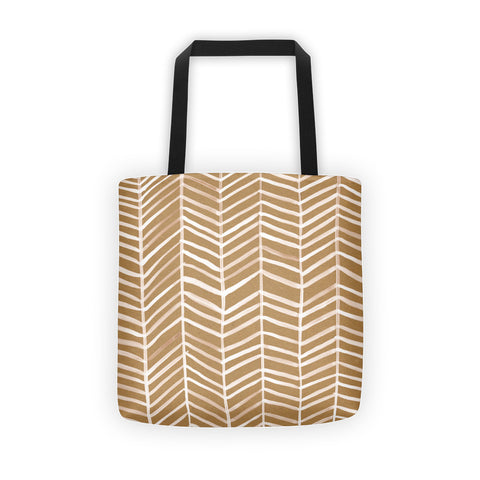 Herringbone – Kraft Palette • Tote Bag