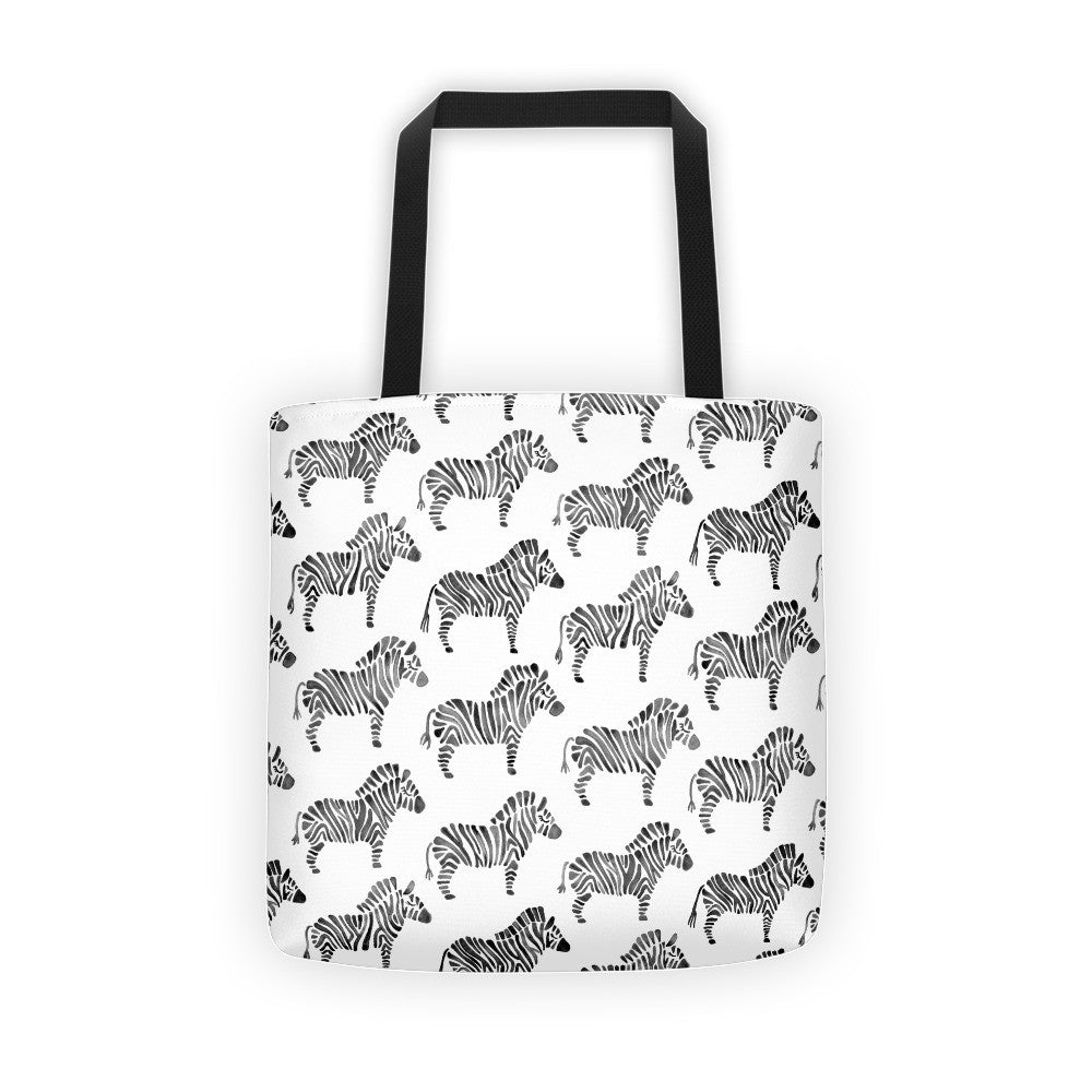 Zebra Collection – Black Palette  •  Tote Bag