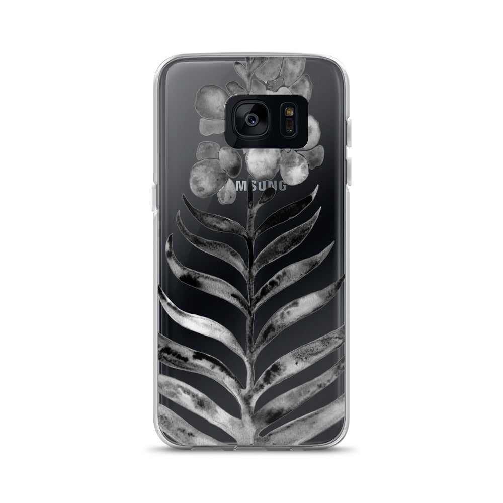 Black Orchid Bloom • Samsung Case (Transparent)