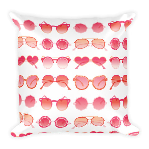 Sunglasses Collection – Pink Palette  •  Square Pillow