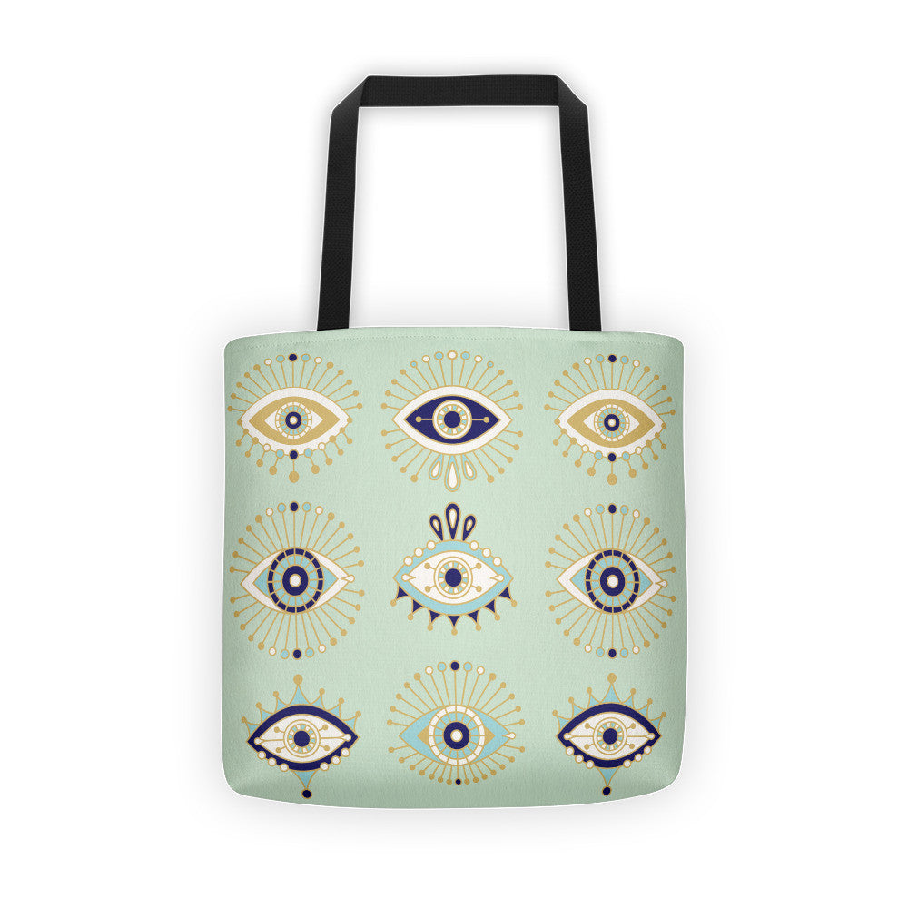 Evil Eyes – Mint Palette  •  Tote Bag