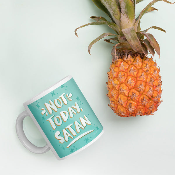 Not Today Satan – Mint Palette • Mug