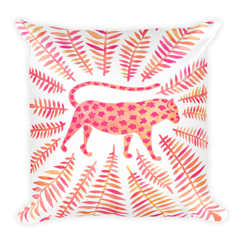 Jaguar – Pink Palette • Square Pillow