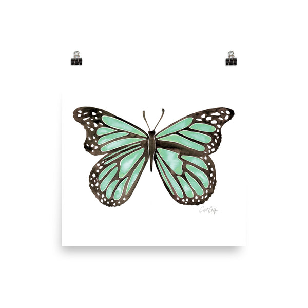 Butterfly – Mint Palette • Art Print
