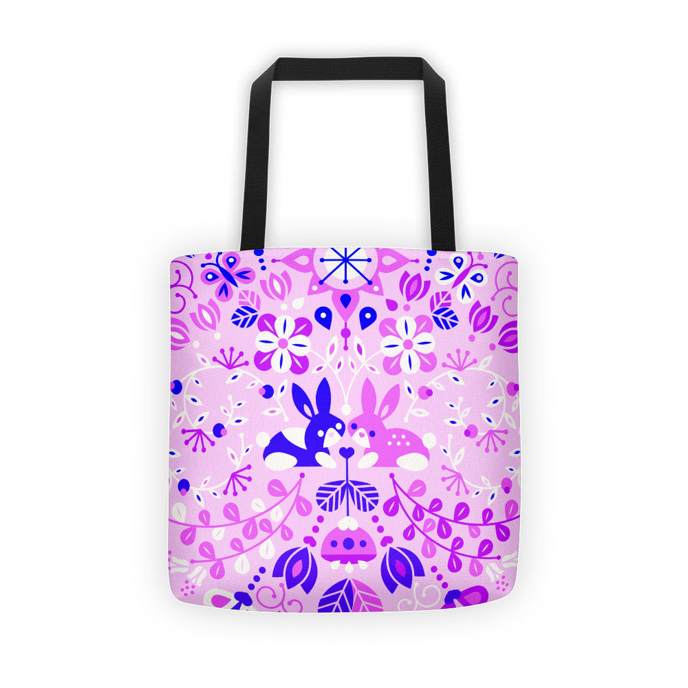 Bunny Lovers – Indigo Palette  •  Tote Bag