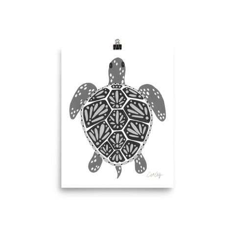 Sea Turtle – Black Palette  •  Art Print