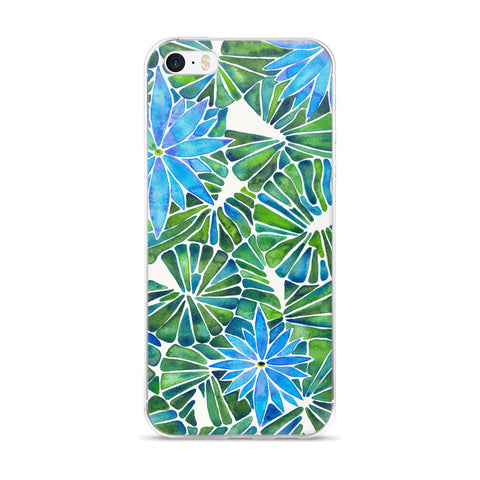 Water Lilies – Blue & Green Palette  •  iPhone 5/5s/Se, 6/6s, 6/6s Plus Case