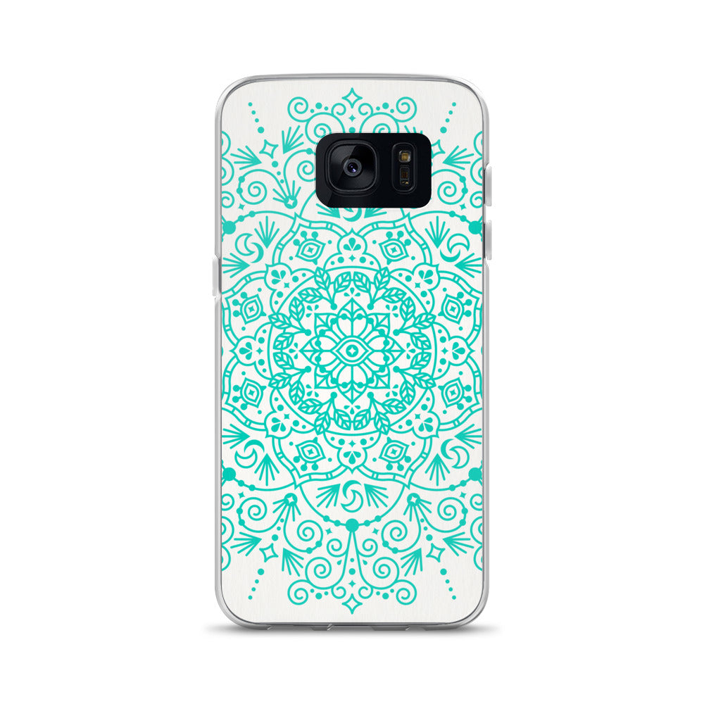 Moroccan Mandala – Turquoise Palette • Samsung Case