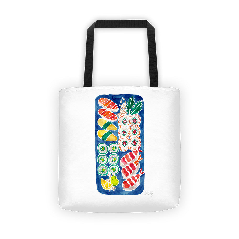 Sushi Collection – Navy Platter  •  Tote Bag
