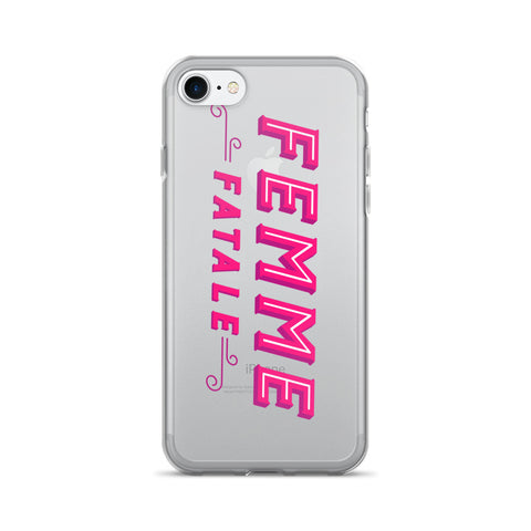 Femme Fatale • iPhone 7/7 Plus Case (Transparent)