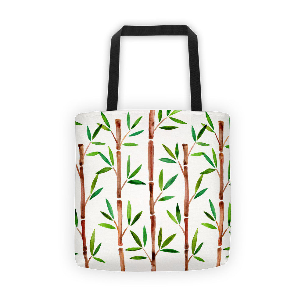 Bamboo – Green & Brown Palette  •  Tote Bag