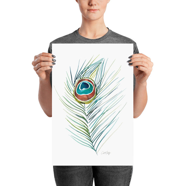 Peacock Feather • Art Print