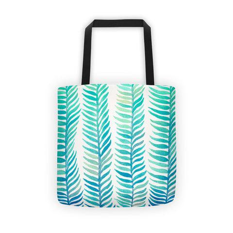 Stems – Turquoise Palette  •  Tote Bag