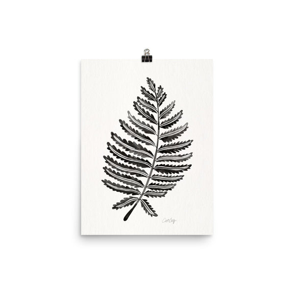 Fern Leaf – Black Palette • Art Print