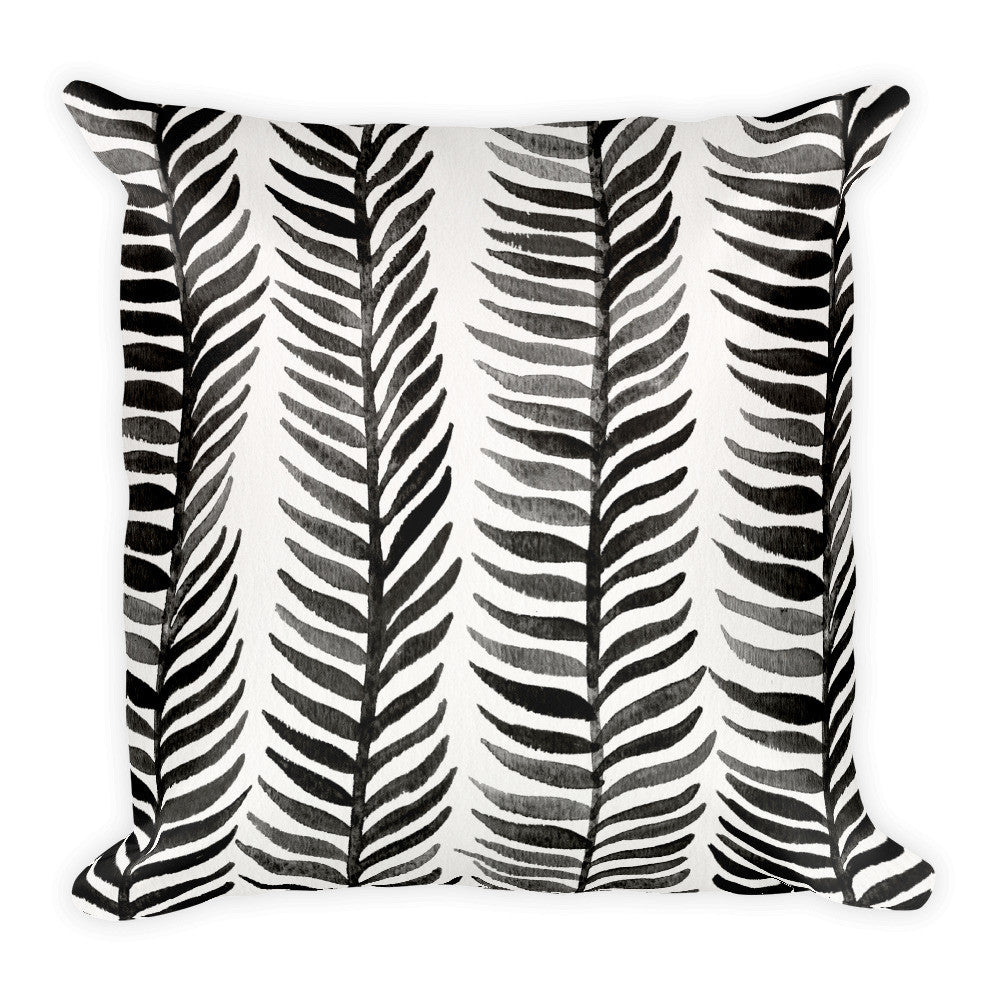 Stems – Black Palette  •  Square Pillow