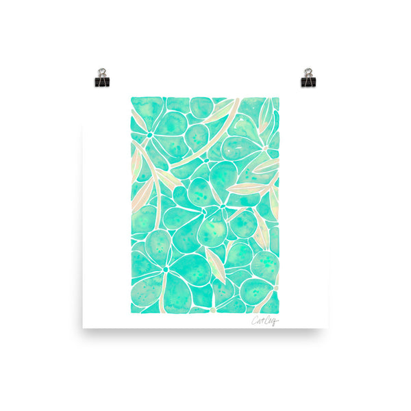 Orchid Wall – Mint Palette • Art Print