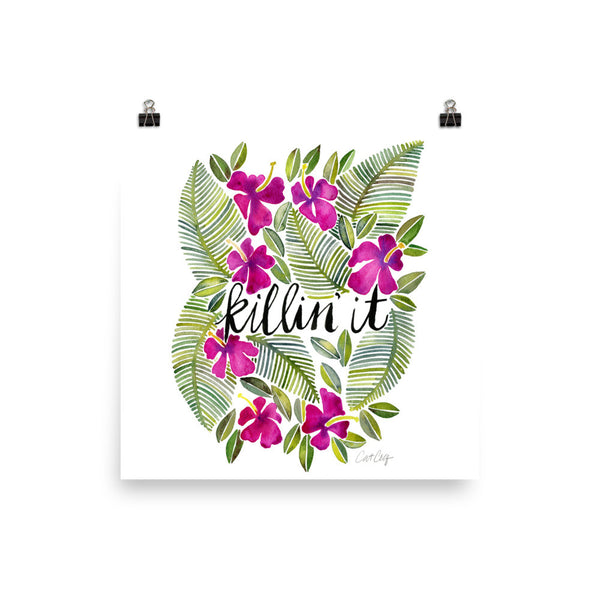 Killin' It – Magenta Palette • Art Print