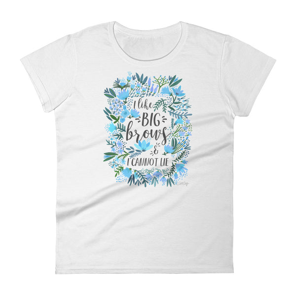 Big Brows – Blue Palette • Women's short sleeve t-shirt