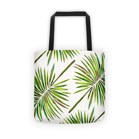 Fan Palm – Green Palette  •  Tote Bag