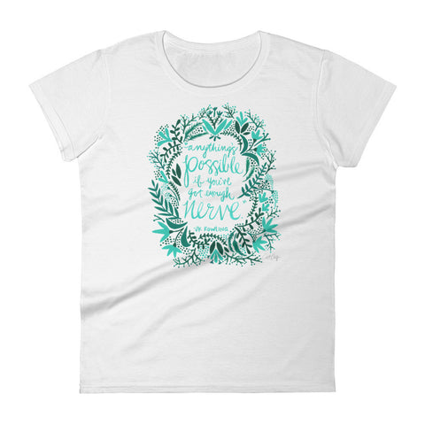 Anything's Possible – Turquoise & Teal Palette • Women's short sleeve t-shirt