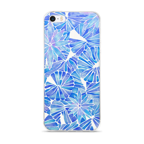 Water Lilies – Blue Palette  •  iPhone 5/5s/Se, 6/6s, 6/6s Plus Case