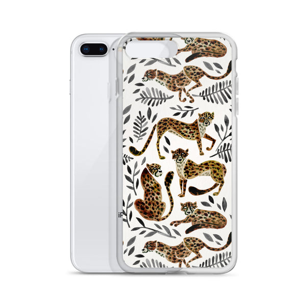 Cheetah Collection – Mocha & Black Palette • iPhone Case