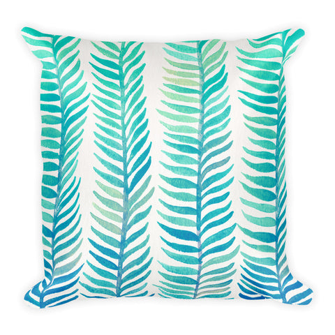 Stems – Turquoise Palette • Square Pillow