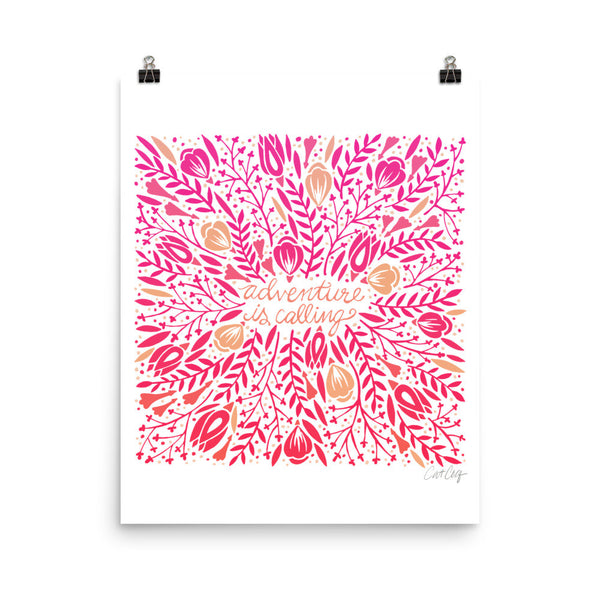 Adventure is Calling – Pink Palette • Art Print