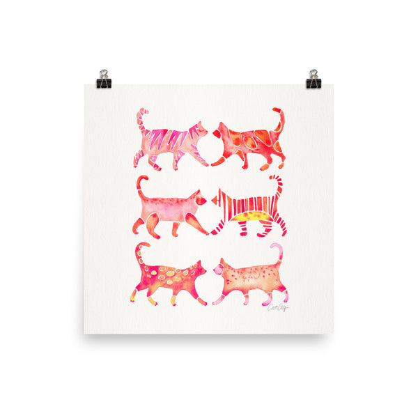 Cat Collection – Pink Palette • Art Print