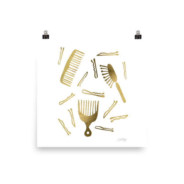 Good Hair Day – Gold Palette • Art Print
