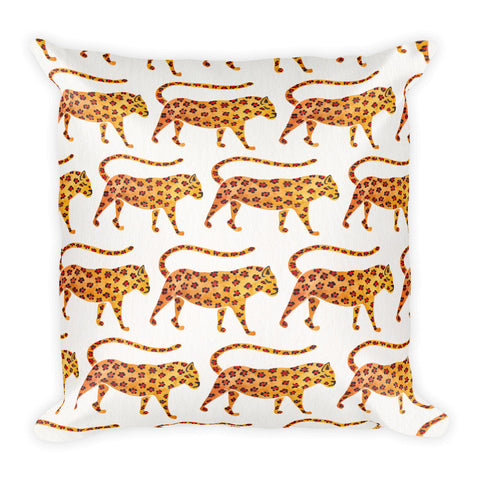 Jaguar Pattern • Square Pillow