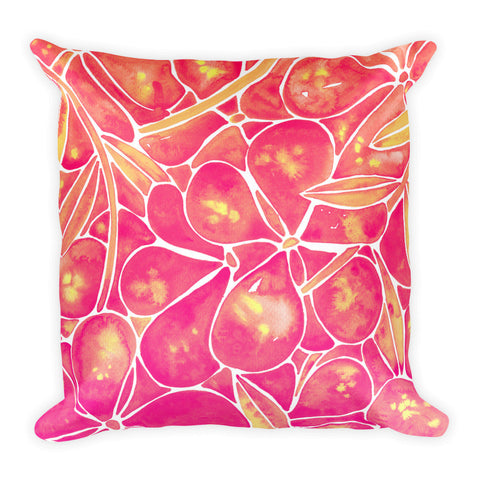 Orchid Wall – Pink Ombré Palette  •  Square Pillow