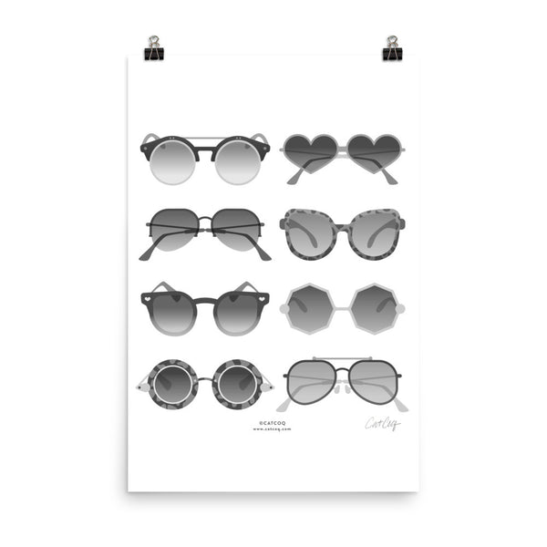 Sunglasses Collection – Black Palette • Art Print