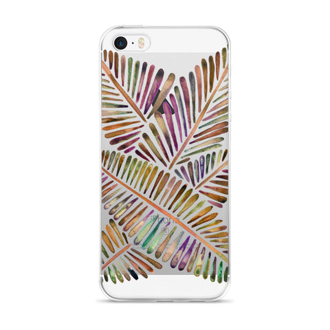 Banana Leaves – Vintage Palette  •  iPhone 5/5s/Se, 6/6s, 6/6s Plus Case (Transparent)