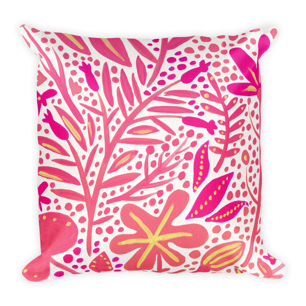 Garden – Pink Palette  •  Square Pillow