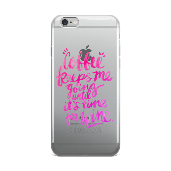 Coffee & Wine – Pink Palette  •  iPhone 5/5s/Se, 6/6s, 6/6s Plus Case (Transparent)