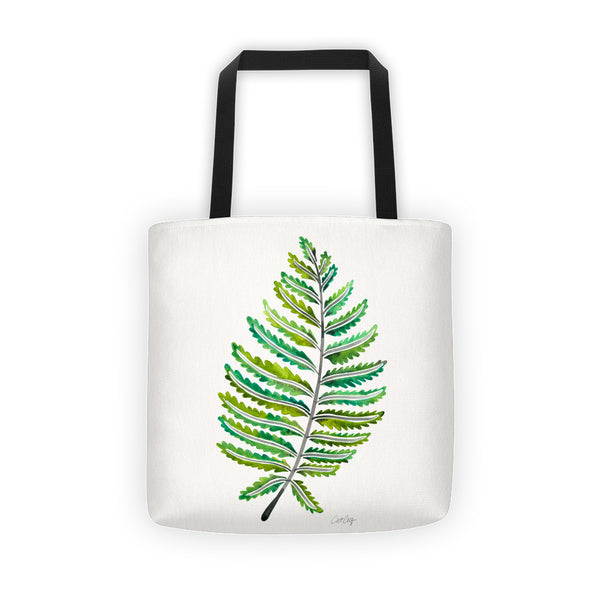 Fern Leaf – Green Palette •  Tote Bag