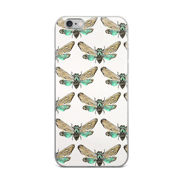 Summer Cicada – Mint Palette • iPhone Case