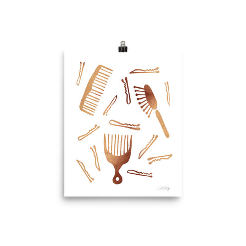 Good Hair Day – Rose Gold Palette • Art Print