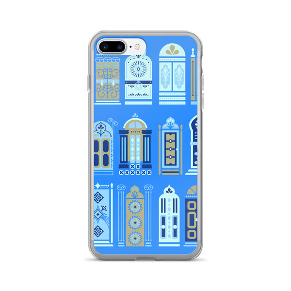 Moroccan Doors – Cornflower Blue Palette • iPhone 7/7 Plus Case