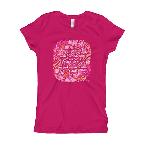 Always Remember – Pink • Girl's T-Shirt