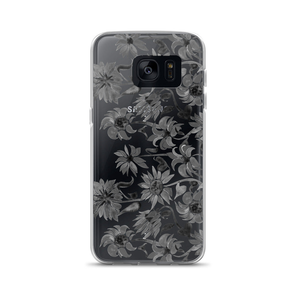 Sunflower Watercolor – Black Palette • Samsung Case