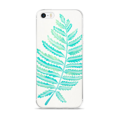 Fern Leaf – Mint Palette  •  iPhone 5/5s/Se, 6/6s, 6/6s Plus Case