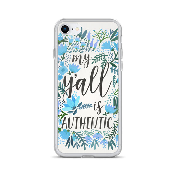 My Y'all is Authentic – Blue Palette • iPhone Case