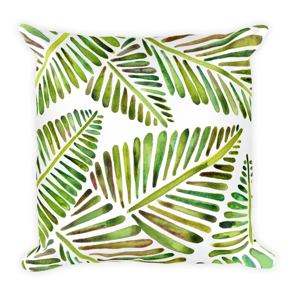 Banana Leaves – Green Palette  •  Square Pillow