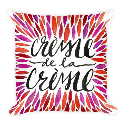 Crème de la Crème – Red Palette  •  Square Pillow