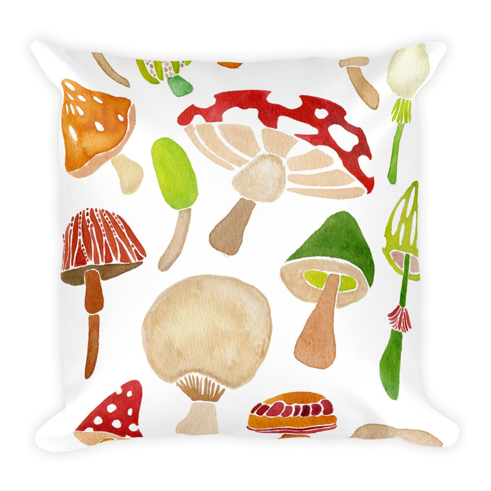Mushroom Collection  •  Square Pillow