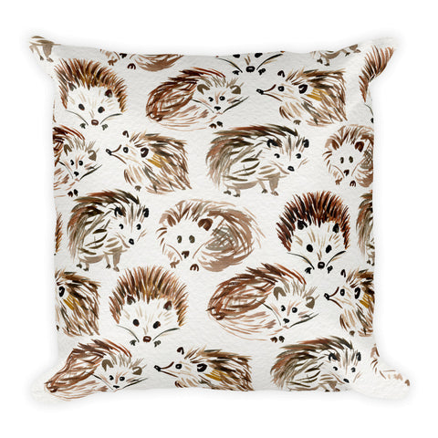 Hedgehogs • Square Pillow