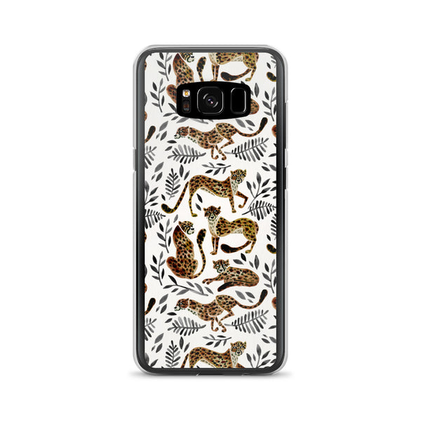 Cheetah Collection – Mocha & Black Palette • Samsung Case