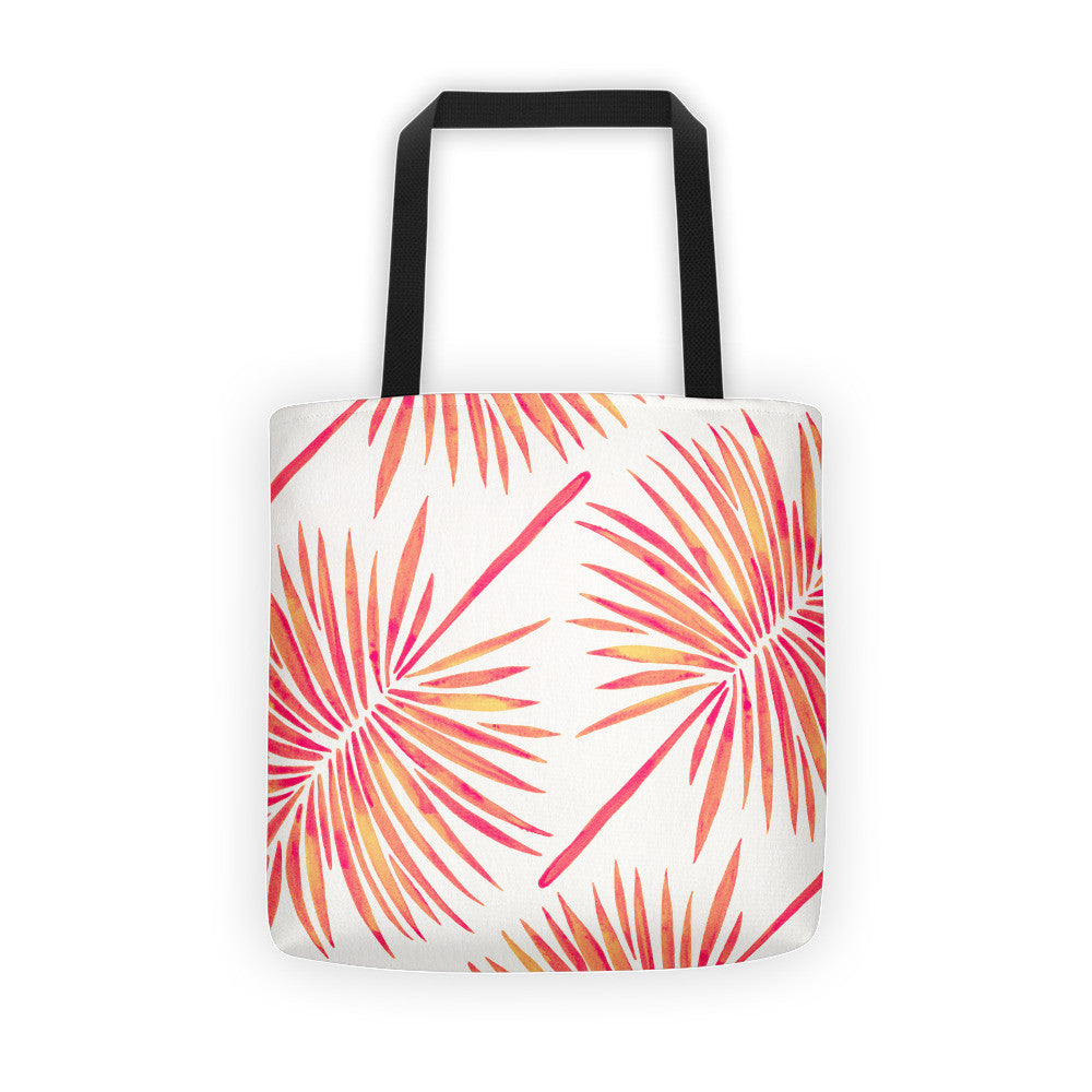 Fan Palm – Pink Palette  •  Tote Bag